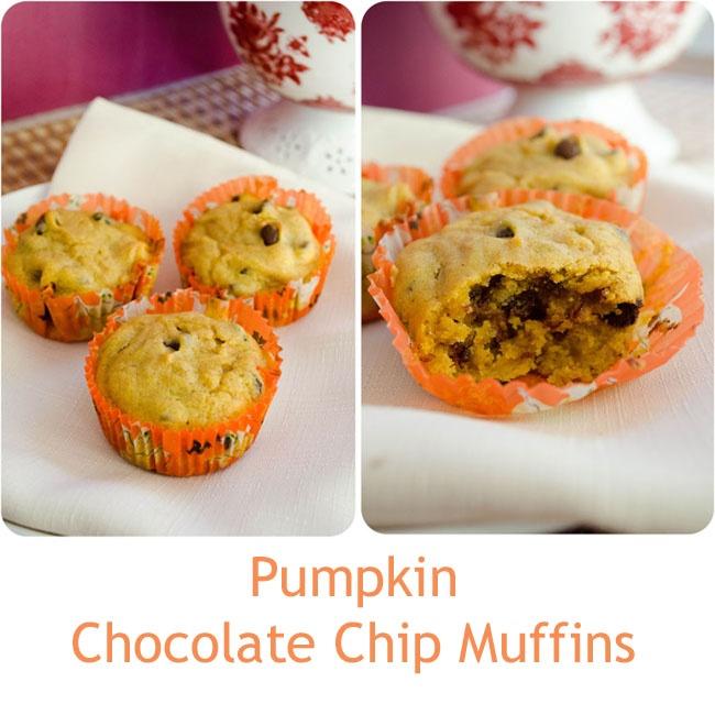 Pumpkin Chocolate Chip Muffins | My Fabulous Recipes | Pinterest