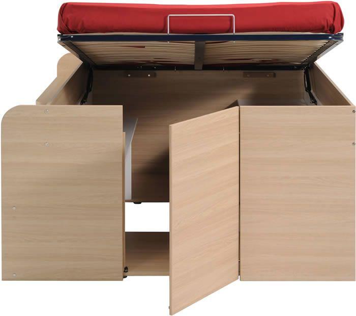 Front view parisot space up double storage bed pinterest