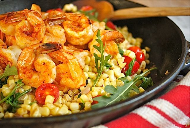 Paprika-Spiced Shrimp with Warm Corn Salad / MOMS KITCHEN HANDBOOK