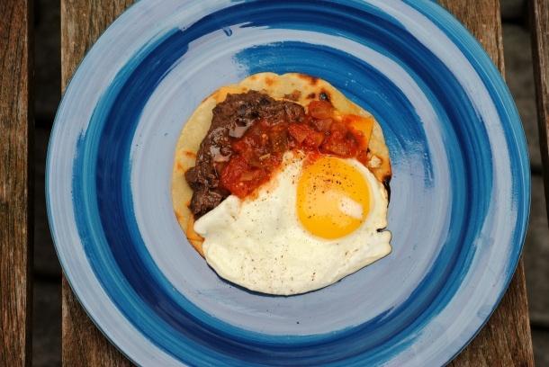 Corn And Black Bean Huevos Rancheros With Roast Zucchini Salsa Recipes ...