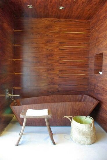 Salle de bois.  Idées réno/déco :: salle de bain  Pinterest