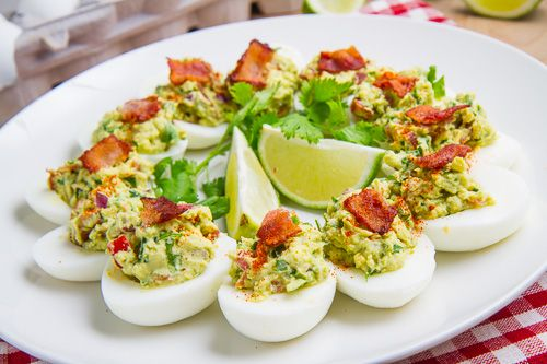 Bacon Guacamole Deviled Eggs | Recipe
