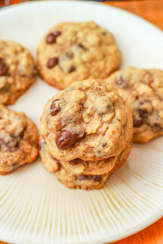 Thick Oatmeal Raisinet Cookies