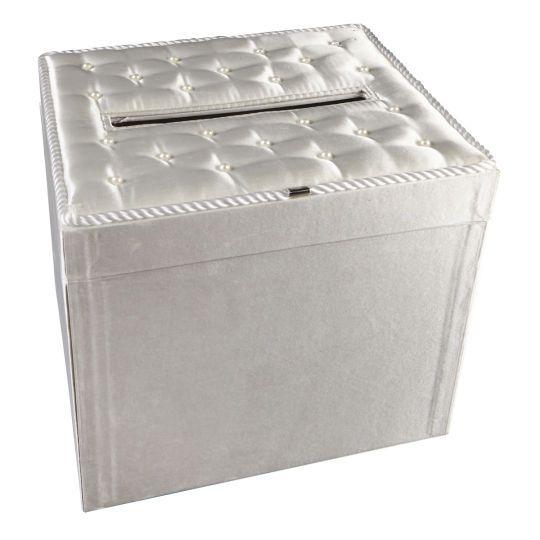 Celebrate It Occasions Satin Card Box, White