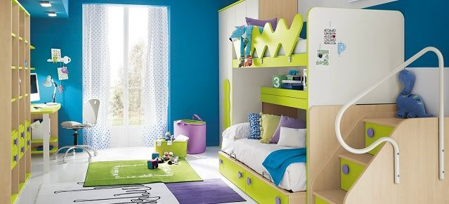Colorful and modern kid's bedrooms