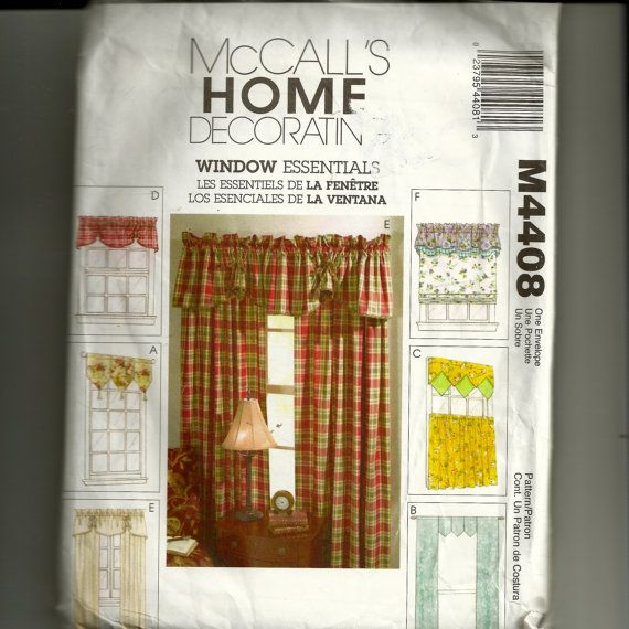McCall's Curtains Pattern M4408 I have this one