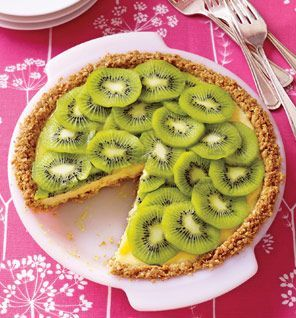 Kiwi Lime Pie. 1 tablespoon ground flax 4 graham cracker sheets ...