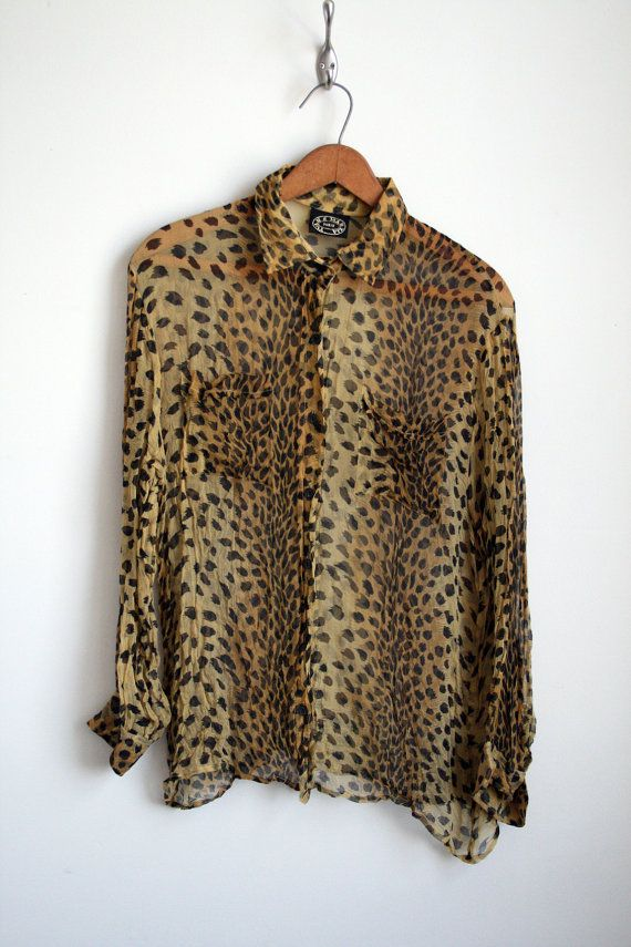 Sheer Cheetah Print Blouse 35
