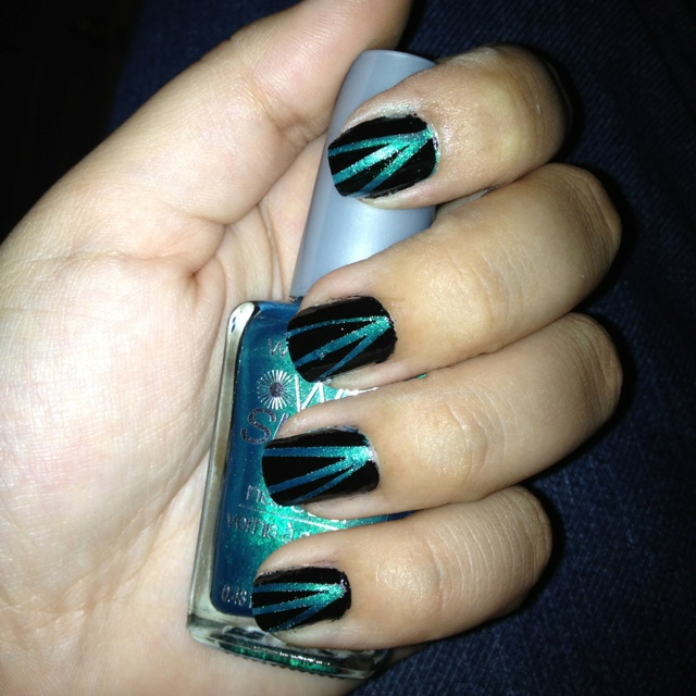 Astounding Diy Nail Art Designs Using Scotch Tape: Nail Designs, Hair Styles
