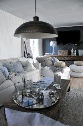 mooie woonkamer met gave lamp  DECORATION  Pinterest