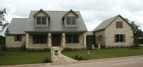 Metal roof stone house google search metal roofs for Austin stone siding