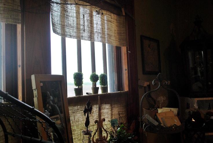 burlap curtains DIY? | Window Dressing | Pinterest