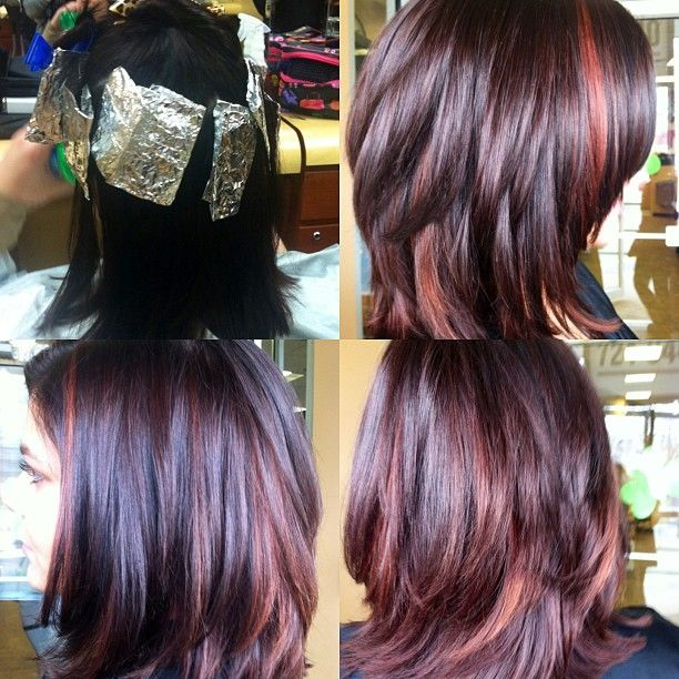 Peek A Boo Highlights Addicted To Hair Pinterest