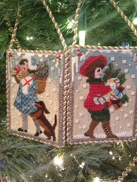 Melissa Shirley needlepoint Christmas vintage children
