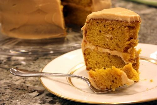 Pumpkin Spice Layer Cake with Caramel Cream Cheese Frosting | The ...