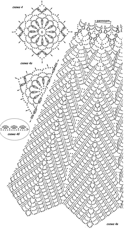 Вязания крючком схемы юбок 3