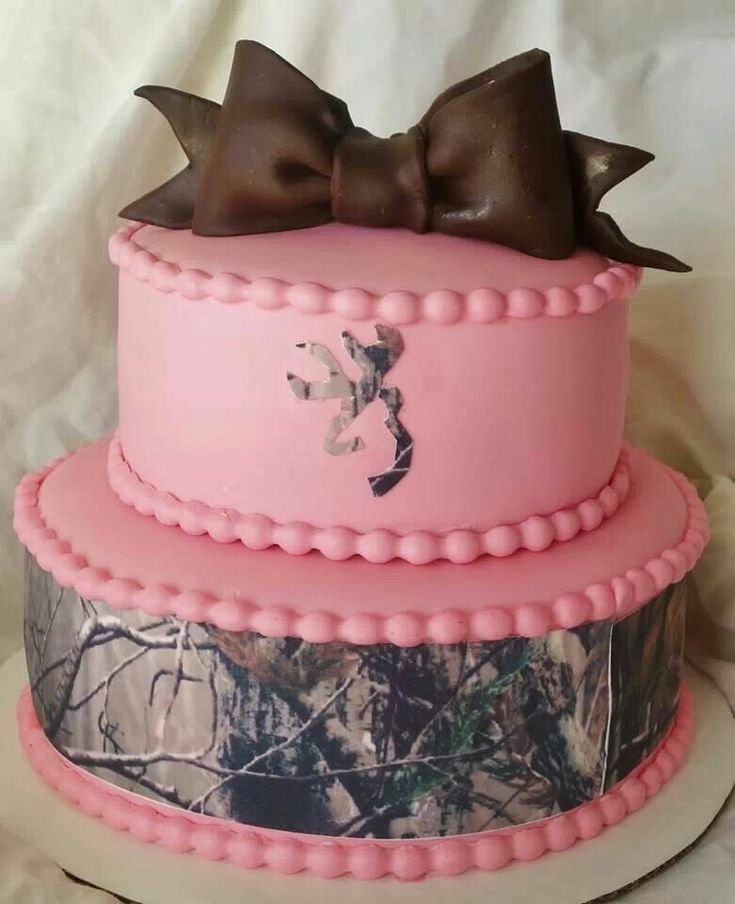 camo pink cake shower oh baby