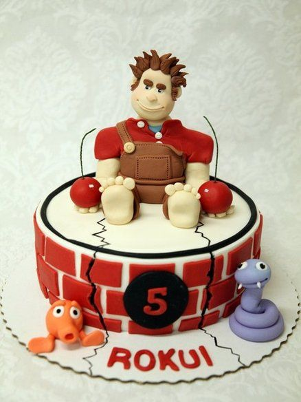 Wreck-It Ralph cake - by Neva @ CakesDecor.com - cake decorating website