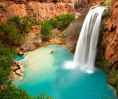 Swim in Havasu Falls, Supai, AZ