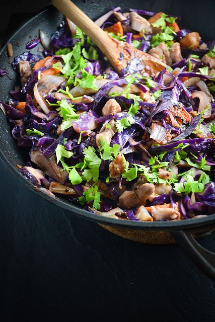 Red Cabbage, Sweet Potato, and Chicken Stir Fry Recipe - 2 tbs. sesame ...