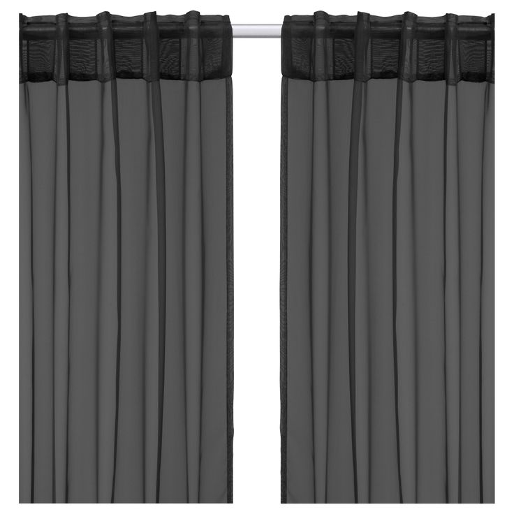 sarita pair of curtains black 57x118 ikea the curtains let the