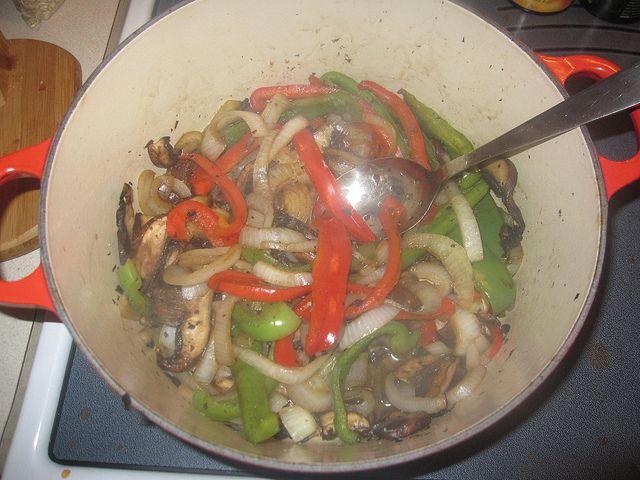 Mushroom fajita contents by trenttsd, via Flickr