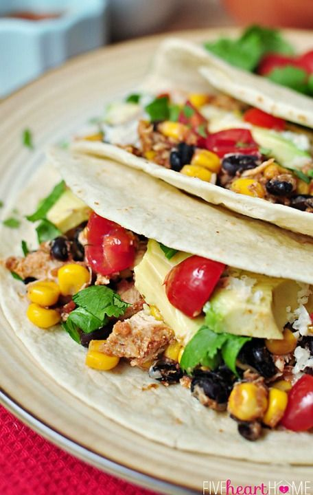 Slow Cooker Chicken and Black Bean Tacos | COCINA - SANDWICHES, HAMBU ...