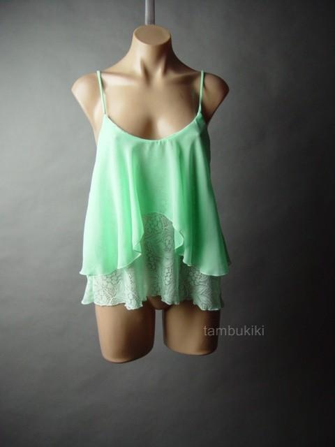 Mint Green Ruffle Blouse 93