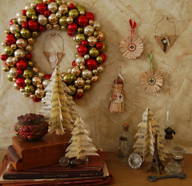 French country christmas decorations photograph found on 2