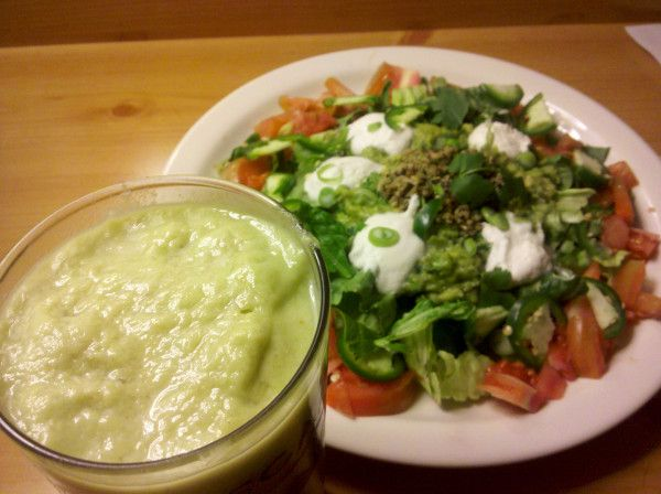 salad. Cheriavolada recipe: 1.5 Avocados (ripe) • 1.5 Cherimoyas ...