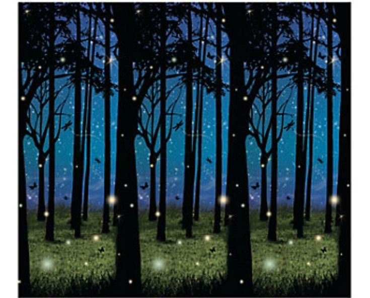 30 foot enchanted forest wall mural halloween scene setter for Enchanted forest wall mural