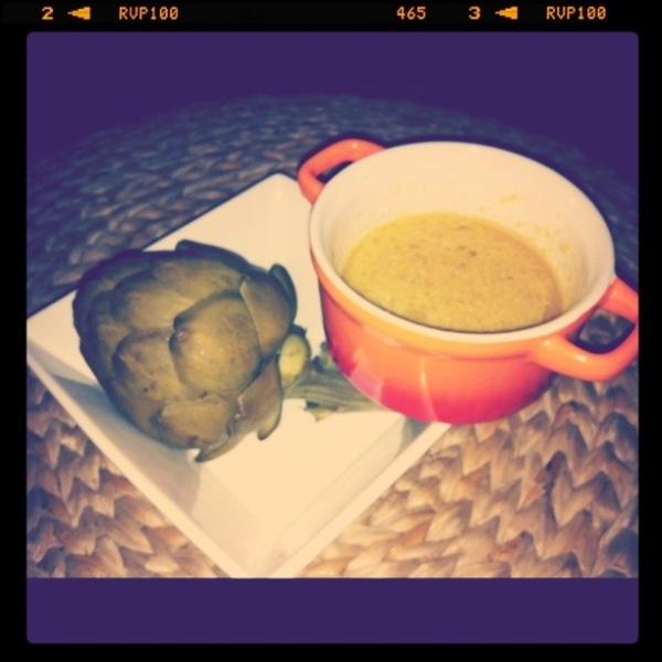 Steamed Artichoke with Tart Lemon Dip