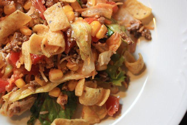 Mostly Homemade Mom - Corn Chip Taco Salad www.mostlyhomemademom.com