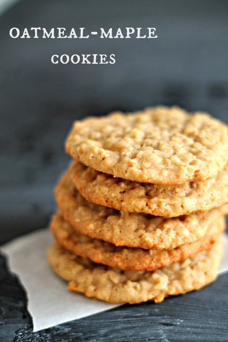 Only From Scratch: From the Kitchen :: Oatmeal-Maple Cookies