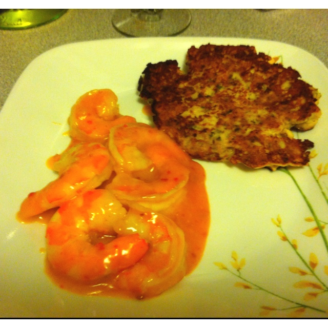 Bangin shrimp and cauliflower fritter from skinnytaste.com. So good ...