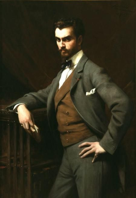 James Hazen Hyde - millionaire playboy, Francophile, and instigator of a Wall Street panic. Painted by Théobald Chartran, 1901.
