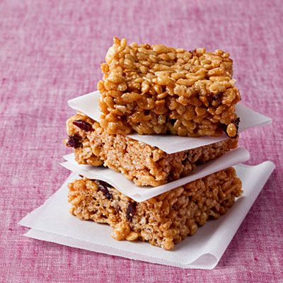 Dried Cherries + Peanut Butter + Rice Crispies = HEAVEN IN A SNACK ...