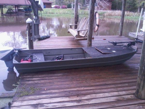 12ft jon boat obo jon boat pinterest for Fishing equipment for sale on craigslist