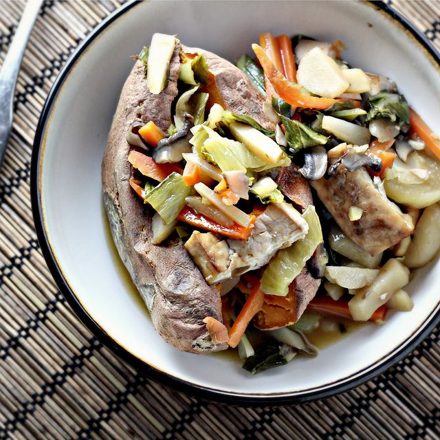 Bok Choy and Baked Tofu Stir Fry in Citrus-Ginger Sauce | Recipe