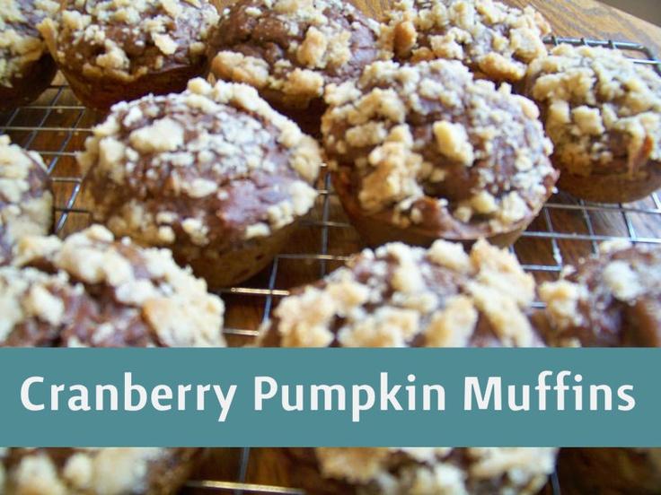 Cranberry Pumpkin Muffins | Pumpkin Recipes to Try | Pinterest