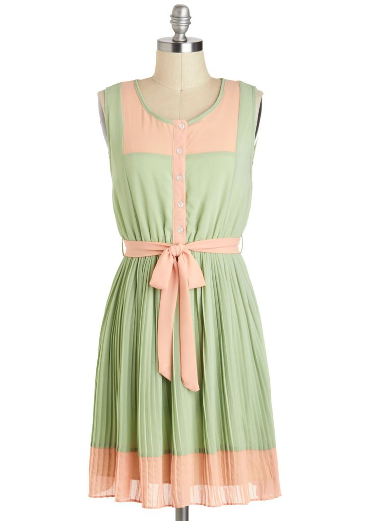 Urban garden party dress in sage for Garden party dresses