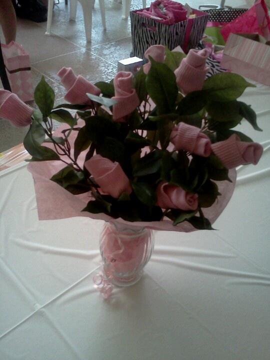 sock flower arrangements for baby shower crafts pinterest
