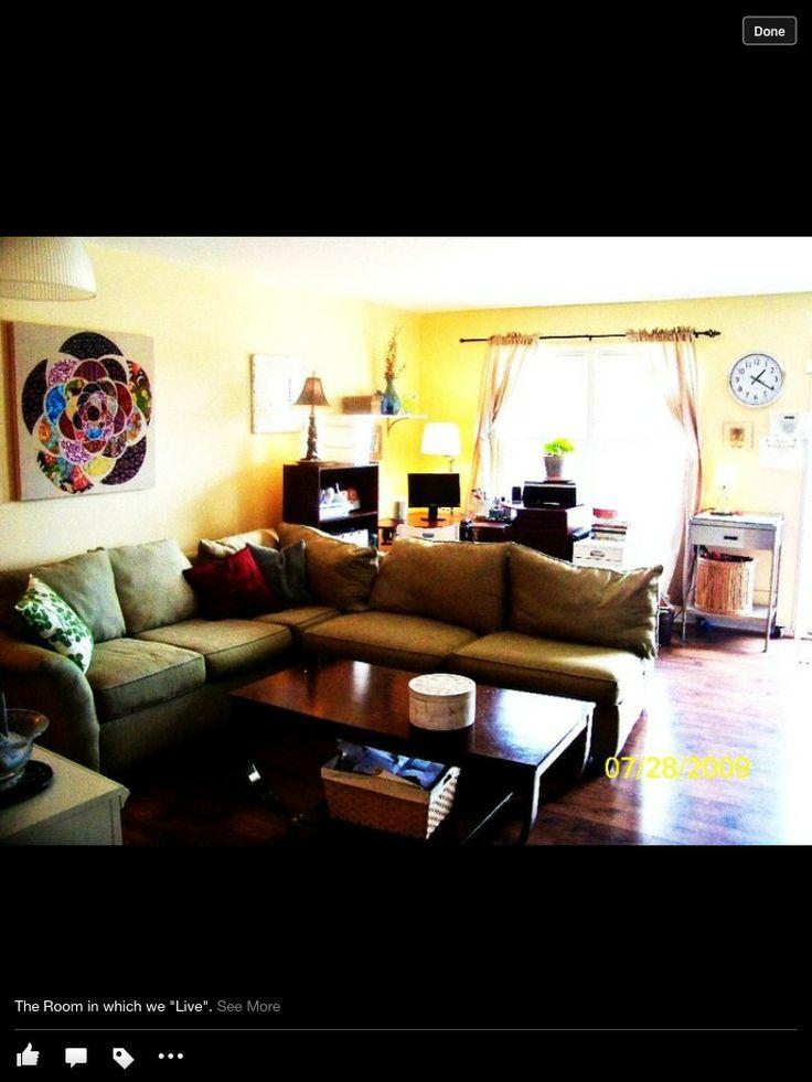 Living Room Office Combo Living Room Pinterest