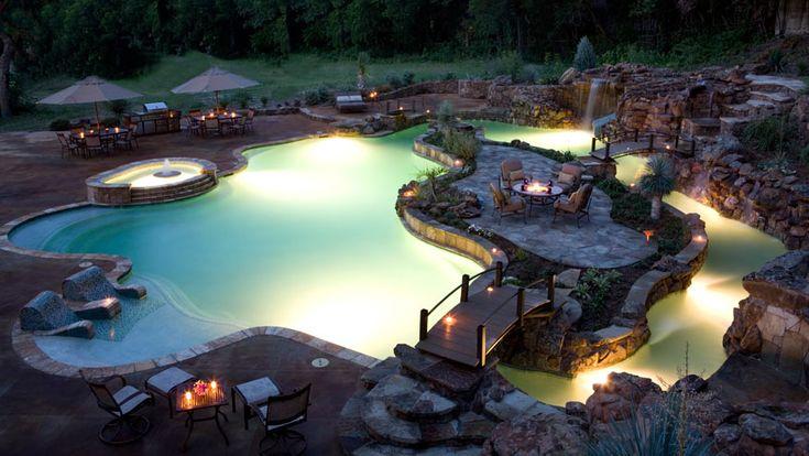 incredible backyard (lazy river)  Pools  Pinterest