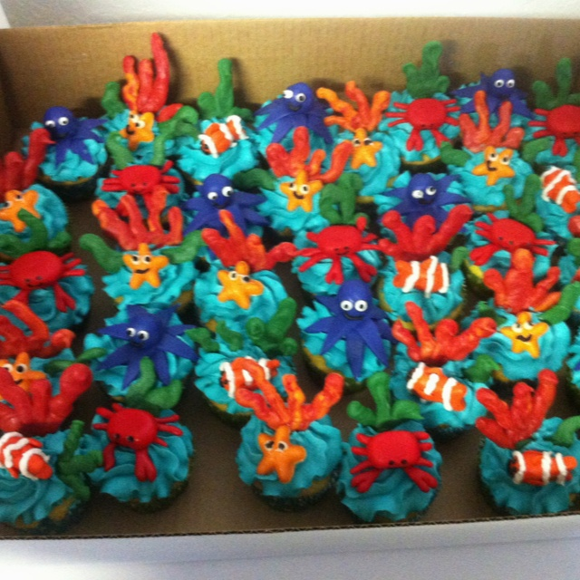 Under the sea cupcakes My Cakes Pinterest