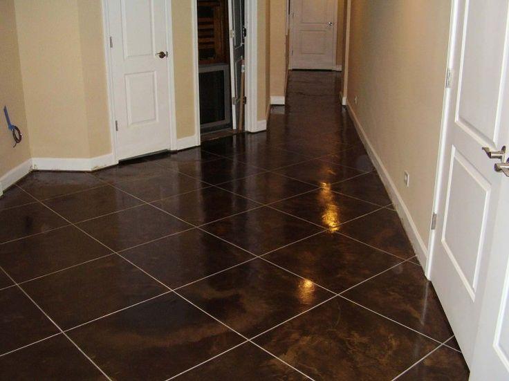 basement floor concrete staining illinois decorative concrete
