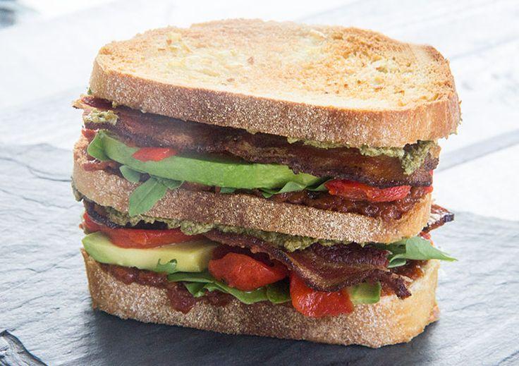 tomato sandwich sardine sun dried tomato and bacon club sandwich