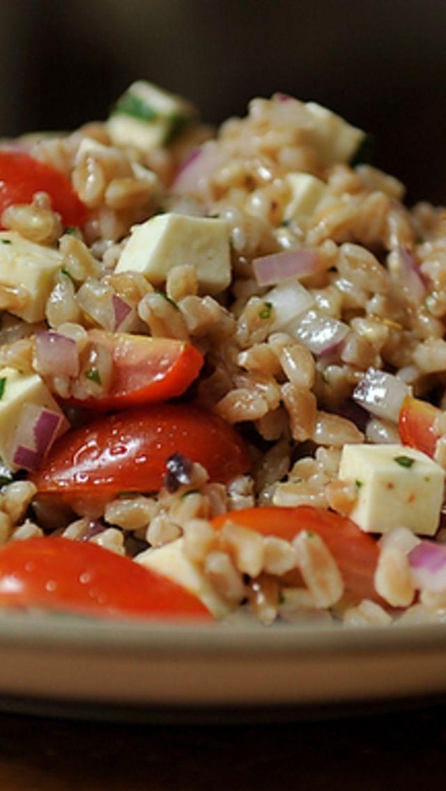Summer Farro Salad | Healthy | Pinterest