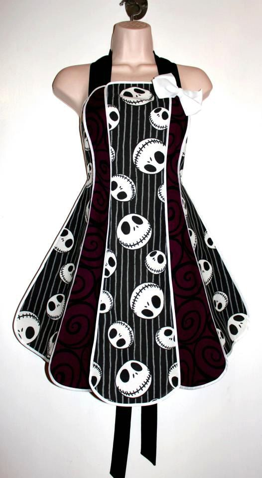 Vintage inspired Nightmare Before Christmas stylist / kitchen apron by ...