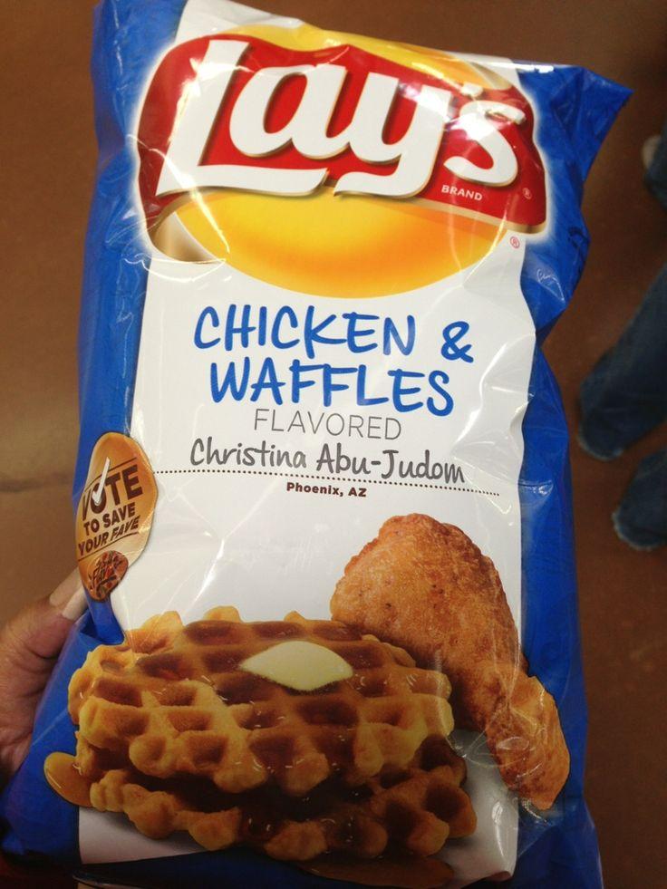 Lay's Chicken & Waffles Potato Chips | Me vs Food | Pinterest